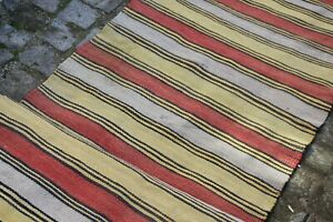 "FREE SHIPPING Vintage Handmade Turkish Oushak Runner Rug Kilim 9'x2'9"""