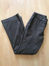Designer BODEN Wool Lined Trousers Size 12R W32 L30 Brown Excellent Condition