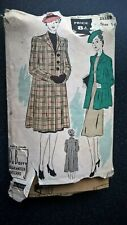 """1941 Vintage Sewing Pattern B38"""" SWAGGER COAT (72) By 'Du Barry'"""