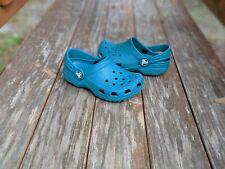 CROCS Original Clogs Dark Teal Shoes Toddler SZ 8-9