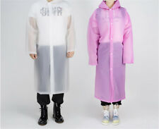 Women's Men Light Weight Rain Coat Poncho Waterproof Camping Hiking Hooded Hot