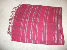 long table runner/ sideboard cover new red/black/silver