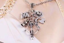 Walking Dead Six Charm Silver Necklace