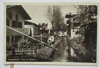 Oberammergau, Partie am Mühlbach, Werbestempel Passionsspiele 1934 (26548)