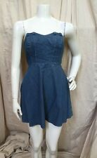 Kimchi Blue Urban Outfitters Strapless Fit n Flare Chambray Denim Mini Dress S