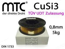 Lötdraht CuSi3 Draht 0,8 mm 5 Kg Schweißdraht D200 Spule Rolle 2.1461 Mig Löten