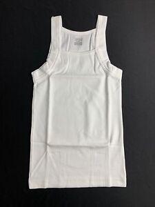 Vintage Merona Mens Fashion Tank Top White Size S Square Cut