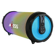 Axess Spbl1044Bl Vibrant Plus Black Hifi Bluetooth Speaker Disco Led Lights In