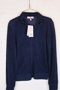 NWT Juicy Couture Women's Small, Regal Blue Fairfax, Mock Neck, Zip Up Jacket
