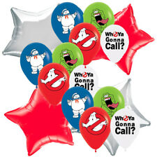 the GHOSTBUSTERs CUPCAKE CAKE TOPPER Birthday Party Balloon CUPCAKE BANNER CUP