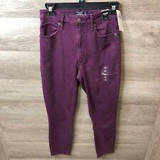 30 Purple J Brand Womens Anja Clean Deep Plum Cuffed Crop