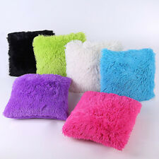 Shaggy Faux Fur Cushion Cover with Insert Soft Plush Lovely Throw Pillows Cases