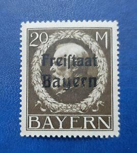 Germany Stamps Bavaria Bayern 20 Mark 1919 Mi. Nr. 170 (16690)