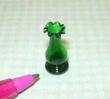 Miniature Dainty 1:24 (HALF SCALE) Glass Bud Vase (GREEN): DOLLHOUSE 1:12