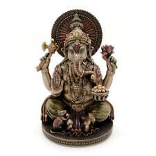 "GANESHA STATUE 6"" Hindu Elephant God Bronze Resin Lord of Success Ganesh QUALITY"