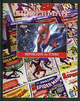 Chad 2016 CTO Spiderman 1v M/S Marvel Comics Superheroes Stamps
