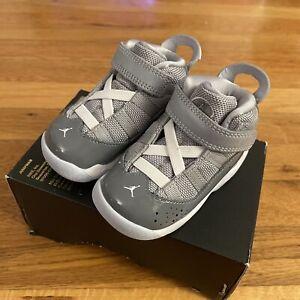 🔥Air Jordan 6 Rings (TD) Toddler Cool Grey/White Wolf Size 5C 323420 015