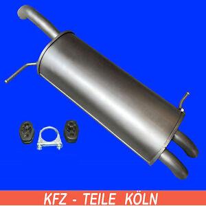 FIESTA VI (CB1, CCN) 1.6 Ti Endschalldämpfer + Montagesatz