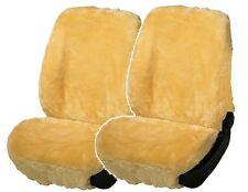 2 Stück Universal Autositzfelle beige, Lammfell Sitzbezüge mit Webpelz