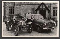 Postcard Beaulieu nr Lymington New Forest motor cars AA 19 AA 20 Lord Montagu RP