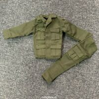 """1/6 21st Century WWII Plain green Uniform For 12"""" The Ultimate Soldier GI Joe"""