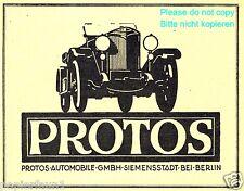 Protos Automobile Berlin Reklame von 1921 Siemenstadt Auto Berlin Werbung ad