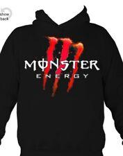Monster Energy Red logo Hoodie All Sizes in Black