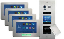 VOSPER 4 Apartments Proximity Reader ALECTO Monitors