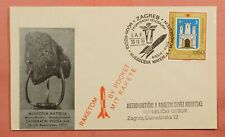 1970 YUGOSLAVIA ROCKET MAIL MOON-ROCKS CACHET ZAGREB CANCEL EZ# 25C1