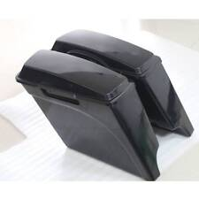 "5"" Extended ABS Hard Saddlebags For Harley Touring Street Glide 94-13 Unpainted"