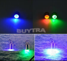 White LED Deep Drop Underwater Fishing Squid Fish Lure Lamp 5 Color New FT