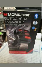 MONSTER BLUETOOTH FM TRANSMITTER WITH 3.4 USB CHARGING #MCC9 BLK