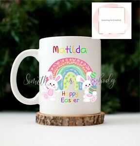 Easter Mug Personalised Bunny Gift Set Sweets Tea Coffee Hot Chocolate Treats