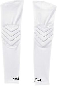 Spalding Compression Padded Arm Sleeves Basketball Shooting Baseball Elbow Pads