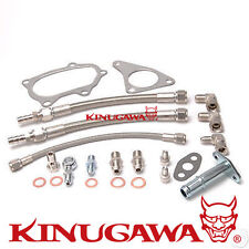Kinugawa Turbo Oil Water Line for SUBARU WRX STI TD05 TD06 / Braided Steel Line