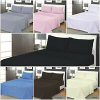 Flanlette 100/% Brushed Cotton Flannel Fitted Sheet Extra Deep 160 GSM Quality UK