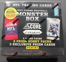 NFL Score MONSTER Box 2013 Football Trading Card OVP 3 Exklusive Prizm per Box