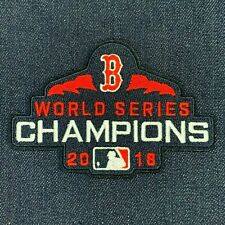 "2018 WORLD SERIES CHAMPIONS BOSTON RED SOX LOGO JERSEY IRON ON PATCH 3"" X 4.5"""