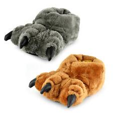 Chicos 3D Monster Pies Zapatillas Novedad Con Garras De Piel Sintética Gris/tan en 4 Tamaños