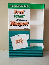 Newport Cigarette Promo T Shirt White Neon Large Vintage 80s 90s New