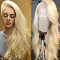Top Quality 613 Blonde Lace Front Wig Straight Wavy Remy Indian Human Hair Wigs