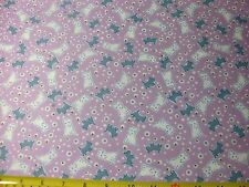 Riley Blake Quilt Fabric Toychest 2 Dog Dogs Scottie Dots Gray Lavender BTY