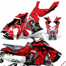 Sled Wrap for Polaris AXYS RUSH Pro S Graphic Snow Decal Kit Snowmobile REAP RED