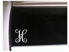 "Letter H Initial Monogram vinyl sticker car decal 5"" L8 Gift Vine Name"