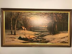 Signed Robert Wood Oil Painting (print) , 53x28