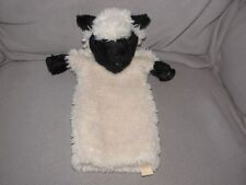 """Sheep Puppet Black Face 14"""" Plush Hand/Stage Moveable Mouth & Legs Folkmanis"""