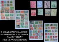 Stamp Collection British Colonies Bermuda Barbados Ceylon Trinidad Natal SA Ext.