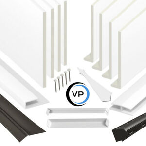 uPVC Fascia Cover Capping Board & Flat Soffit Utility Boards - 9mm x 5m Length