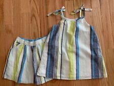 Girls Gymboree Blue Safari Outfit Summer Size 4