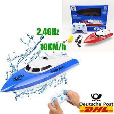 Ferngesteuertes Boot, RC Boot Kinder Mini Fernbedienungs Boot 2,4 GHz 10 km/h DE